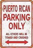 Taco Thursday Puerto Rican Parking Only Pintura de Hierro Cartel de Metal Vintage Cartel de Chapa Cartel de Pared Placa para hogar Dormitorio Garaje Dormitorio Cafetería