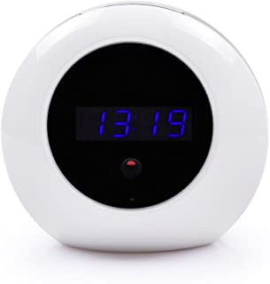 """Spy Camera Alarm Clock 1/4"""" CMOS HD 1080P Hidden Camera with Remote Control and Motion Activated Recording Nanny Cam for H..."""