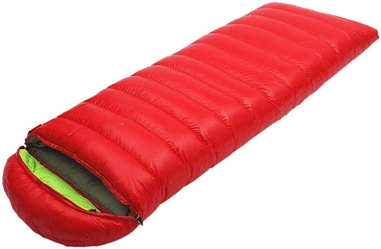 ERKEJI Sac de Camping Isolation en Fibre Creuse Enveloppe de Couleur Pure vers Le Bas de Sac de Couchage Camping Plein air