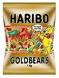 Haribo Osos Dorados, Gomitas de Fruta, Gominolas, Ositos de Goma, En Bolsa, 1 kg