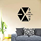 Exo Kai Make Memories KPOP Band Wall Decals Music Artist Song Lyrics Singer Dancer Korean Pop Group for Boys/Girls Art Room Music Room Studio Home Bedroom Vinyl Wall Art Decals Decoration (20x20 inch)