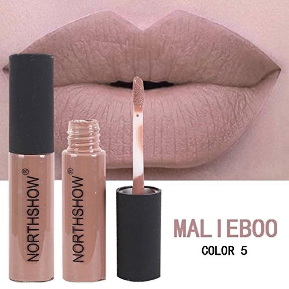 (MAL IEBOO Color 5) New Brand Liquid Matte Lipstick Waterproof Sexy Red Lip Color Lipgloss Moisturizer Velvet Matte Lip Gloss Tint Makeup