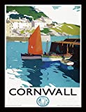National Railway Museum Cornwall (Boats) Framed 30 x 40cm Print Officially licensed product Produced in the UK Ready to hang