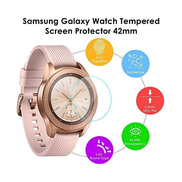KIMILAR [3 Pcs] Pantalla Compatible con Samsung Galaxy Watch 42mm/Galaxy Watch 3 41mm Protector Pantalla, Templado… 3