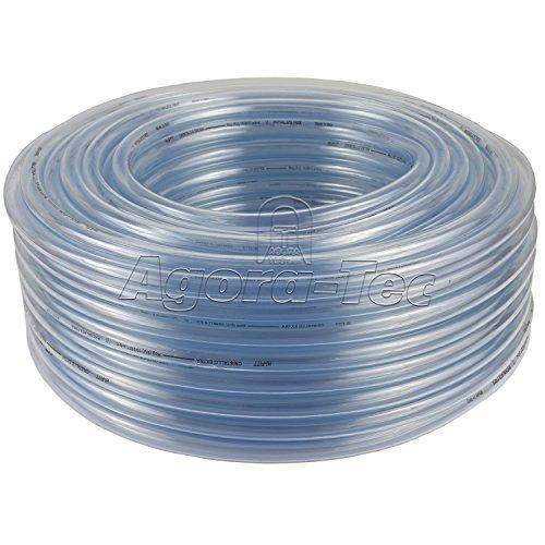 PVC Silikon Luft Wasser Schlauch Transparent Ø 12 mm x 15 mm 50m Rolle