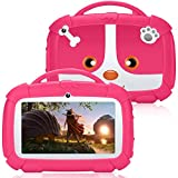 Kids Tablet, 7 inch Android 9.0 Toddler Tablet for Kids Edition Tablet with Parental Control, Kids Software Pre-Installed,WiFi Dual Camera 1GB+16GB, 1024 x 600 IPS Screen, and Kids-Proof Case (Pink)