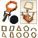 Rahmenspanner Bandspanner, mit 4 Spannbacken verstellbare Ecke Clamp Band Strap Clamp,...