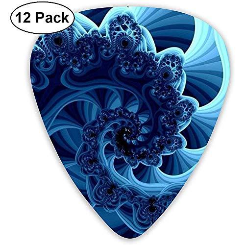 Blue caleidoscoop gitaarpick set gitaar bas-mandoline ukelele 0,46 mm 0,71 mm 0,96 mm 12 pak gitaar picks plectrums houder