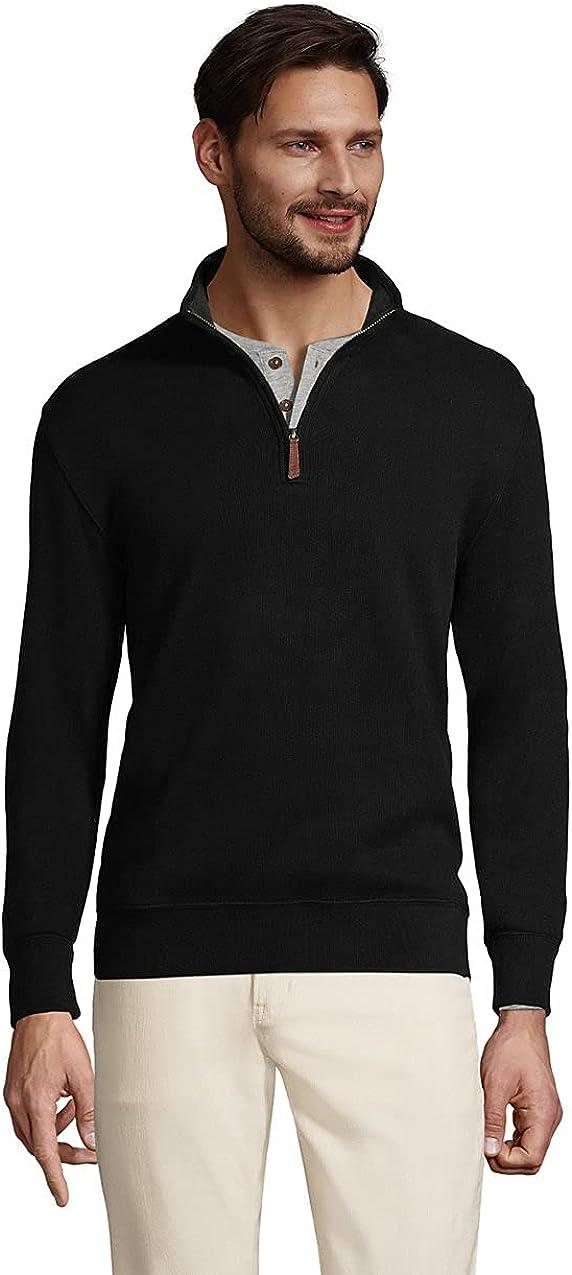 Lands' End Men's Bedford Quarter Max 74% OFF Sweater Rib Zip Max 83% OFF