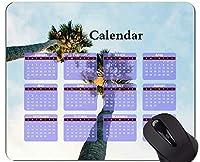 マウスパッド2021カレンダー、ツリーパームツリークラウドマウスパッドマット