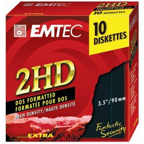 """10 Disketten EMTEC 2HD, 1,44 MB, 3,5\"""""""