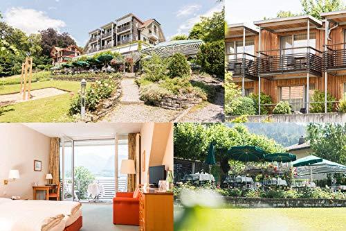 Reiseschein - 3 días de hotel suizo, restaurante Schönbühl in Hilterfingen am Thunesee- cupón de hotel, viaje corto, vacaciones de viaje, regalo de viaje.