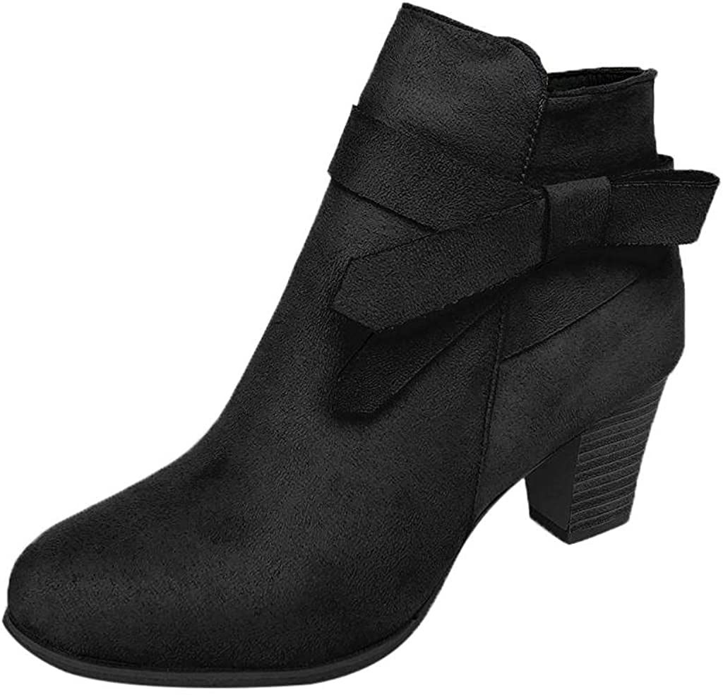 Don't miss San Antonio Mall the campaign Gibobby Platform Boots for Women Chunky Ank Fall Mid Winter Heel