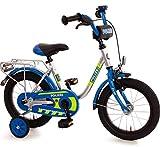 Bachtenkirch Kinderfahrrad 14 Zoll mit Stützräder und Rücktrittbremse Jungen Mädchen Fahrrad...