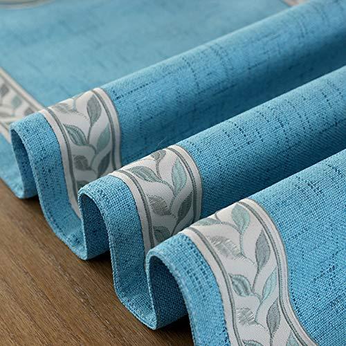 Creek Ywh plankje effen geborduurd tafeldecoratie zijdelings stoffen strepen American TV meubel salontafel stof blauw tafelvlag 32 x 200 cm 1 stuk