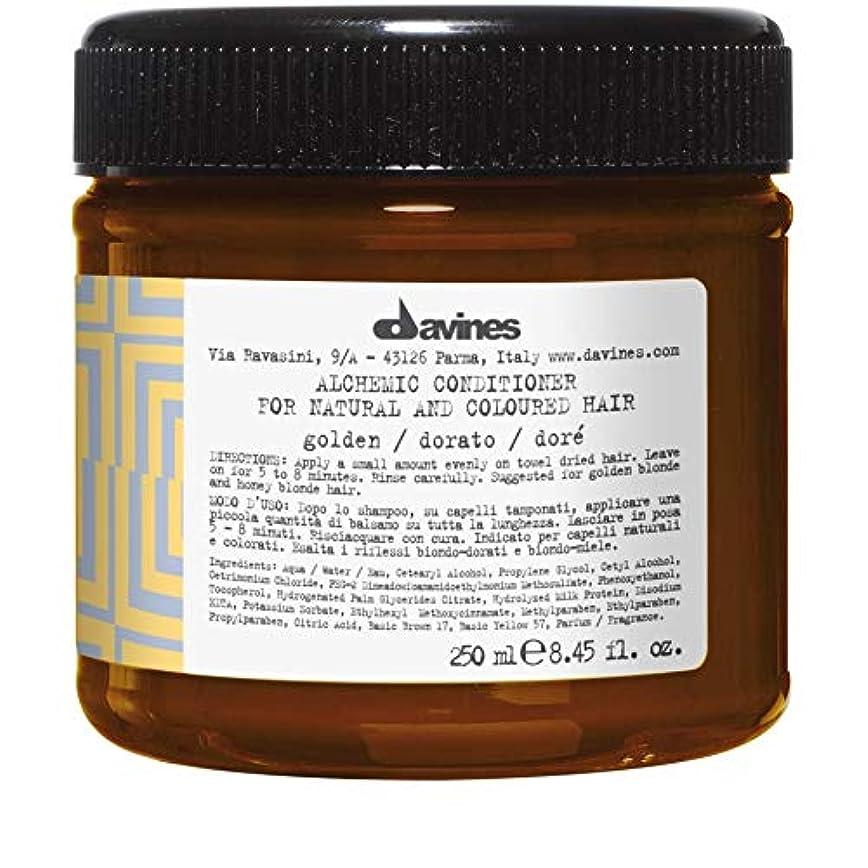 葉巻啓示彼は[Davines ] ダヴィネス錬金術コンディショナー黄金の250ミリリットル - Davines Alchemic Conditioner Golden 250ml [並行輸入品]