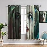 QIAOQIAOLO - Cortinas opacas para decoración de dormitorio Harley Quinn, 160 cm de longitud, cortina para interior de Harley Quinn, 42 x 63 pulgadas