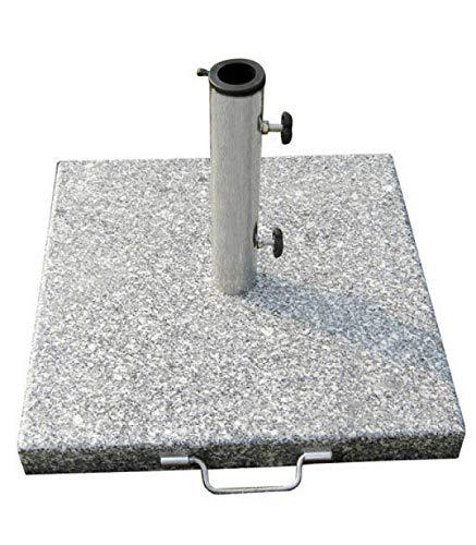 Papillon 8091085 Base en Granit pour Parasol 400x400mm 20kg