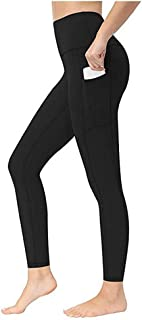 Sponsored Ad - PISIQI Women's High Waisted Leggings Pants with Pockets High Waist Tummy Control for Women Workout Leggings...