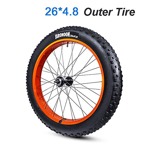 ZTBXQ Sports Outdoors Commuter City Road Bike Bicycle Mountain Rubber Inner Tube Bicycle 26 x 4.0/4.8 Fat Bicycle Outer Tire for Snow Bike