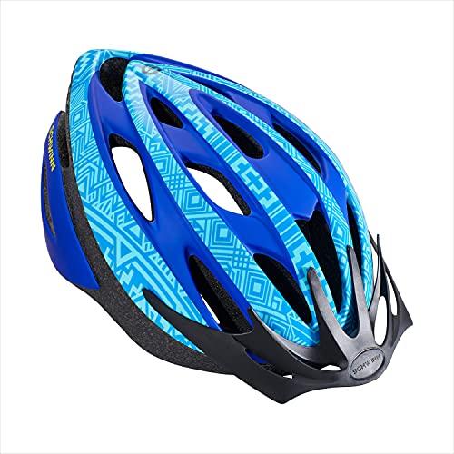 Schwinn Thrasher Bike Helmet, Lightweight Microshell Design, Adult, Blue/Light Blue