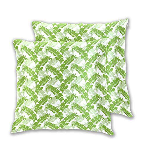 Emoya Juego de 2 fundas de almohada cuadradas decorativas para el sofá, dormitorio, 50 x 50 cm