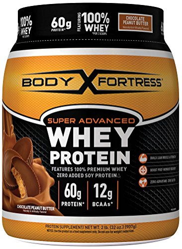 Body Fortress Super Advanced Whey Protein Powder, Chocolate Peanut Butter, 32 Ounce