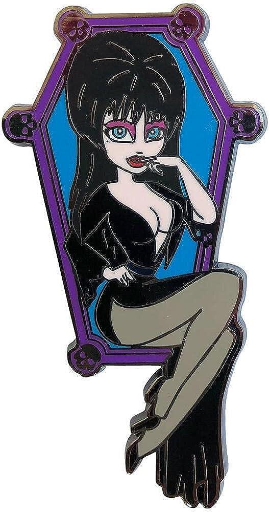 OFFicial shop Kreepsville 666 Elvira Coffin Enamel Mail order Pin Cutie