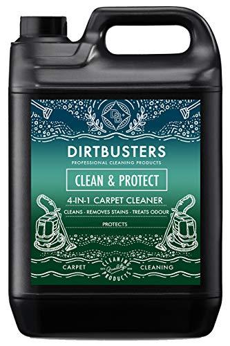 Dirtbusters 'Clean & Protect' - 4 in 1 Reinigungskonzentrat für Teppiche & Polster - neutralisiert & schützt vor unangenehmen Gerüchen - für Teppichreinigungsmaschinen geeignet - 5 l - Zitrusduft