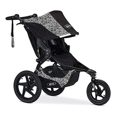 bob baby strollers BOB Revolution Flex 2.0 Jogging Stroller - Up to 75 pounds - UPF 50+ Canopy - Adjustable Handlebar, Lunar