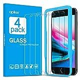 apiker [4-Unidades] Cristal Templado Compatible con iPhone 6s 6 7 8 (4.7 Pulgadas),...