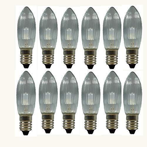 12 Stück LED Riffelkerzen, Topfk...