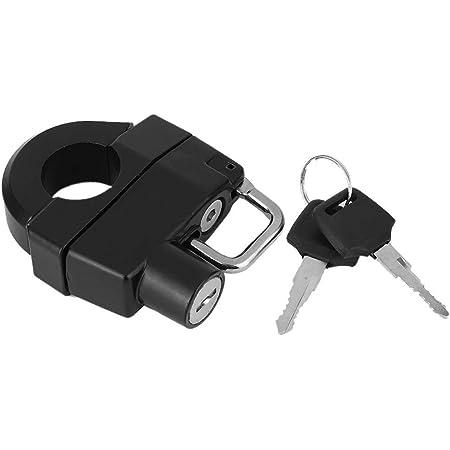 Univesal Motorcycle Helmet Lock Motorbike Hanging Hook Keys Set Aluminum Compatible With 7 8 22mm Handle Bar Accessories Auto