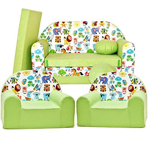 Z5 kit de Lot, Mini pour enfants, bébé Lot de 3 pour enfants Canapé + 2 Fauteuil pour enfant