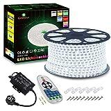 Tira de luces LED, 100 m, color blanco frío, tira de luz LED, de GreenSun, 5050 SMD, resistente al agua, IP65, cadena de luces de...