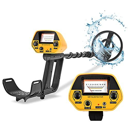 InLoveArts Detectores de Metales Impermeables con LCD y Conector para Auriculares, 2 Modo, detectores de Metales Ligeros Ajustables con pitido para niños, Adultos, Principiantes, Profesionales