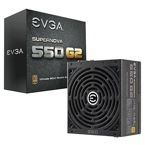 EVGA SuperNOVA 550 G2, 80+ GOLD 550W, Fully Modular, EVGA ECO Modo, 7 anni Garanzia, include il...