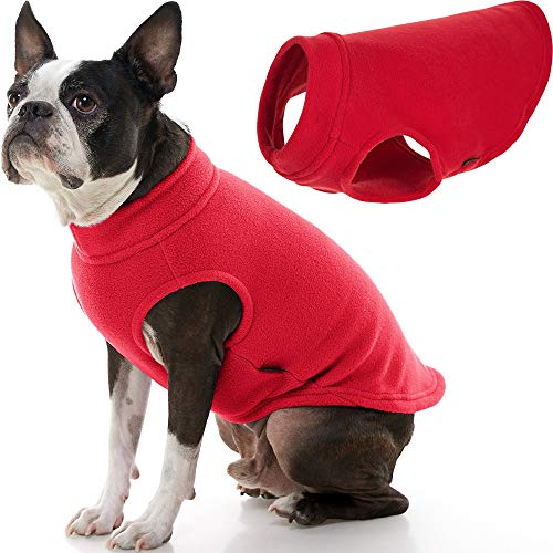 Gooby Stretch Fleece Dog Vest - Red, 2X-Large - Pullover Fleece Dog Sweater - Warm Dog Jacket Winter Dog Clothes Sweater Vest - Dog Sweaters for Small Dogs to Large Dogs for Indoor and Outdoor Use