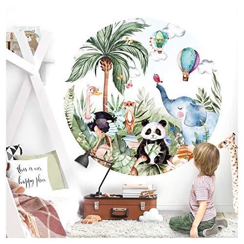 Little Deco Wandsticker Kinderzimmer Wandtattoo Elefant 120 cm Wanddeko Spielzimmer Sticker Kinder Wandaufkleber selbstklebend Panda Safari Junge Mädchen DL558