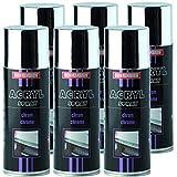 Troton Cromo Spray 6X 400ML Spray Chrome Plata Efecto Pintura Spray Cromo Color Cromo Spray Cromado Coche Pintura Spray