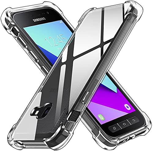 ivoler Funda para Samsung Galaxy Xcover 4 / Xcover 4s, Carcasa Protectora Antigolpes Transparente con Cojín Esquina Parachoques, Suave TPU Silicona Caso Delgada Anti-Choques Case