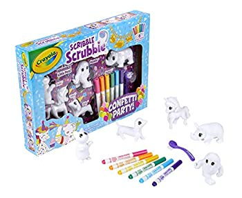 Crayola Scribble Scrubbie Toy Pet Playset Confetti Party Pack Coloring Toy for Kids Gift for Ages 3 4 5 6 7