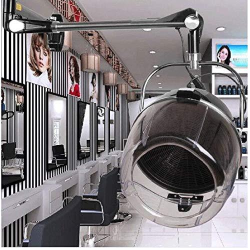 Kuyt Wandhouder, haardroger, 1000 W, startpagina salon, startseil, professionele haarsteamer met ionische schakelaar, haarkleur processor met instelbare timer en temperatuur