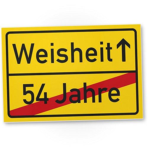 Bedankt! Weisheit (54 jaar) Plastic bord - Geschenk 55. Verjaardag, cadeau-idee Verjaardagscadeau vijfentige, Verjaardagsdeco/Party accessoires/verjaardagskaart