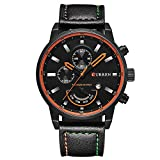 Curren Men's Watch Date Wrist Watch for Men with Leather Strap
