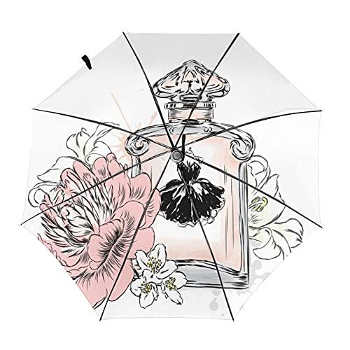 Diseño automático ligero ligero compacto portátil del viaje del perfume de las flores de la acuarela y alta resistencia al viento