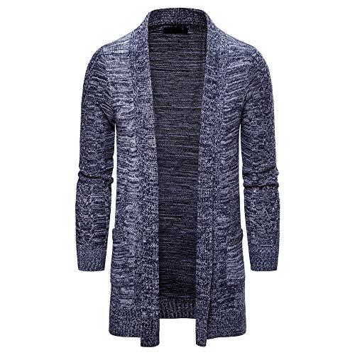 qulvyushangmaobu Männer Kapuzenjacke Jacke Männer Lange Pullover Pullover Männer Strickjacke Lange Twist Strickjacke warme Wolle Schal Kragen Mantel