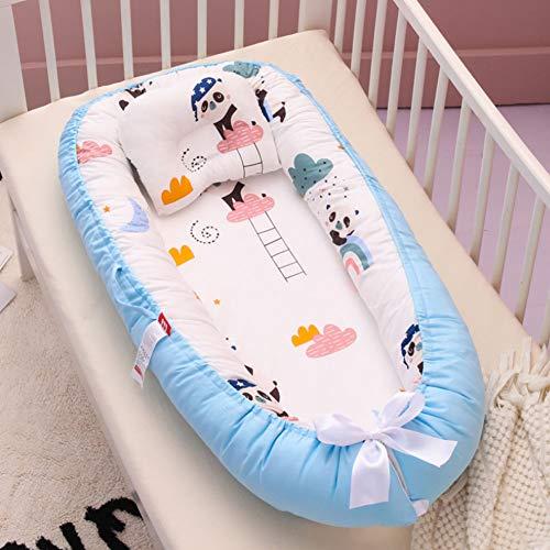 Nid de bébé cododo pour nouveau-né - 100% coton respirant doux et portable - Pour chambre à coucher ou voyage
