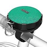 Onforu Altavoz Portátil Bluetooth Bicicleta, Verde Speaker Inalámbrico Bici con Sonido Estéreo, Bluetooth 5.0, 10 Horas, IP65 Impermeable, Mini Altavoz para Deporte Ciclismo al Aire Libre, Montaña