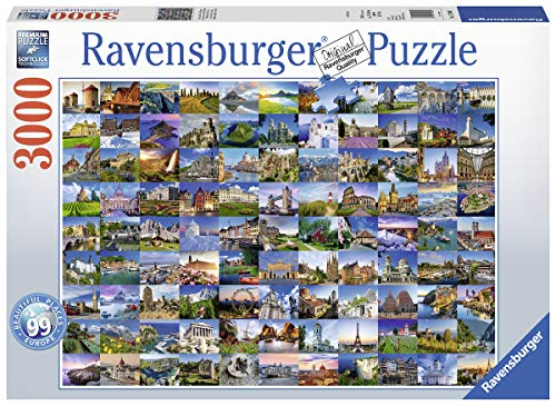 Ravensburger 17080 Beautiful Places of Europe - 3000 Piece Puzzle for Adults, Every Piece is Unique, Softclick Technology Means Pieces Fit Together Perfectly
